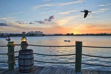 Sunset At Sumter Lake In Flori...