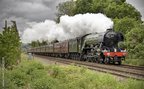 Flying Scotsman at Shere, Surrey 2016 Wallpaper Mural