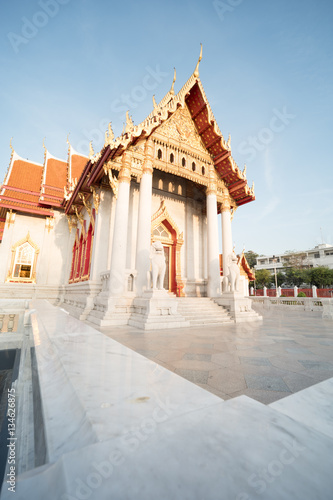 Mable temple in bangkok thailand Canvas Print