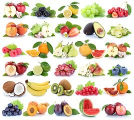 Früchte Frucht Obst Collage Apfel Orange Banane Orangen Erdbeer