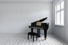 Empty Room With Piano