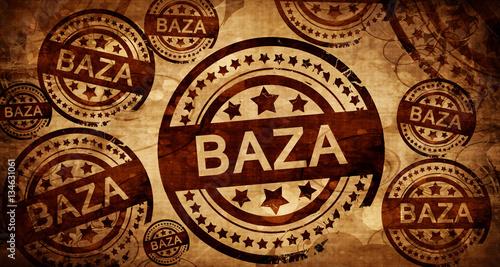 Photo baza, vintage stamp on paper background