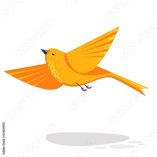 Photo Flying bird vector flat style illustration
