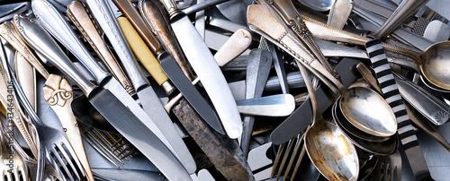 Fotografie, Obraz  Heap of cutlery