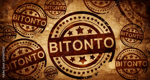 Bitonto, vintage stamp on paper background Canvas Print