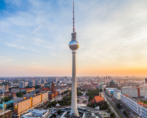 Poster Berlin Berlin city view with TV tower in the centre, Germany