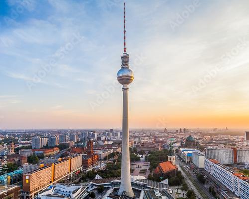 Zdjęcie XXL Berlin miasta widok z TV wierza w centrum, Niemcy