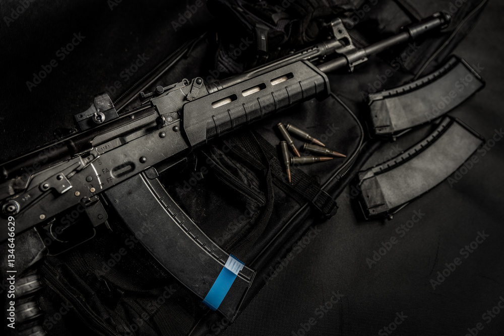 Fototapeta Modern Kalashnikov's Rifle