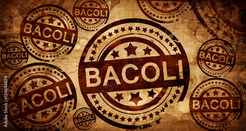 Bacoli, vintage stamp on paper background Canvas Print