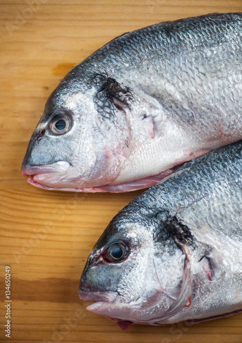 Acrylic Prints Fish Two fishes ready for cooking