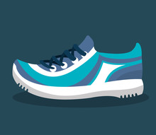 Sport Tennis Shoes Isolated Icon Vector Illustration Design