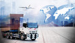 business of worldwide cargo transport or global business commerce concept or import-export commercial logistic ,shipping business industry