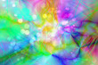 Abstract multicolor pastel and brilliant color bubble dot spring design for Easter or Party