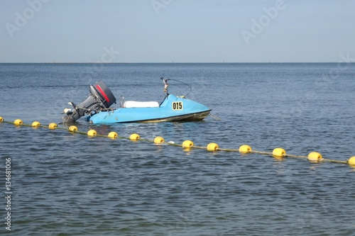 Poster Nautique motorise Jet ski or water scooter on ocean