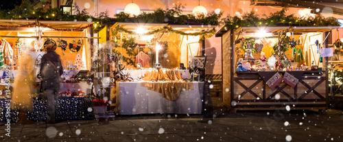 Cuadros en Lienzo Weihnachtsmarkt, Christkindlmarkt, Adventmarkt am Wörthersee - Kärnten