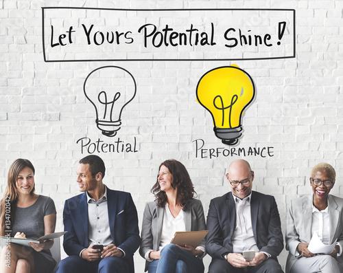 Fotografie, Obraz  Potential Performance Capacity Motivation Skill Concept