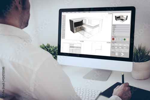 graphic tablet designer architect Fototapeta