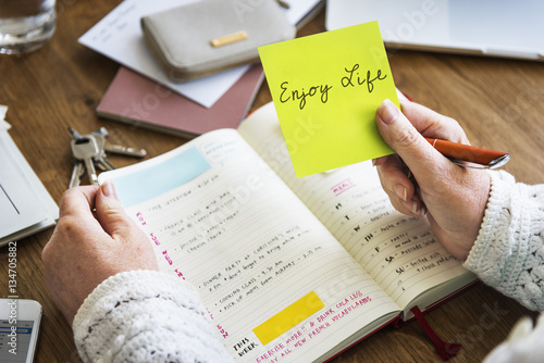 Enjoy Life Daily Planner Concept плакат