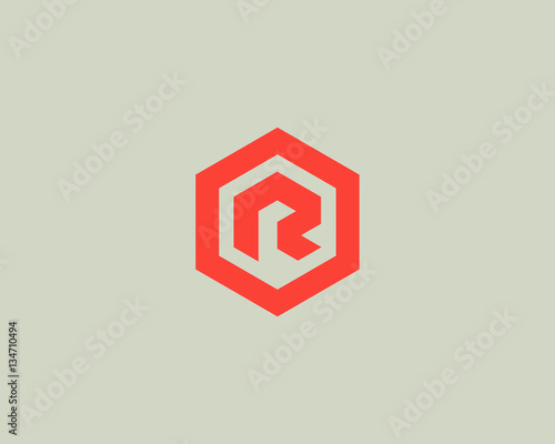 Photo  Abstract letter R vector logotype