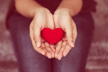 Giving Heart And Love In Valentine's Day