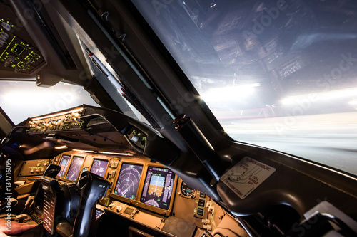 Cuadros en Lienzo Airliner Cockpit 2