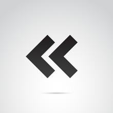 Rewind Vector Icon.