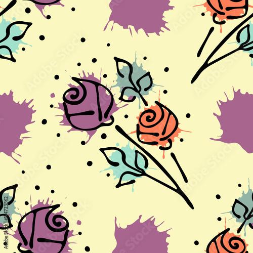 kolorowe-kwiaty-na-zoltym-tle