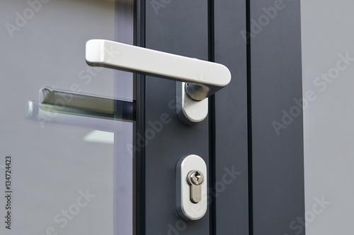 Exterior door handle and Security lock – kaufen Sie dieses Foto und ...