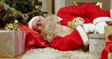 Santa Claus Sleeping With Chri...
