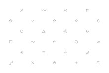 White Geometric Pattern With Gray Simple Signs