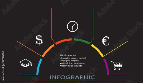 Obraz na plátně  Conceptual Design template vector