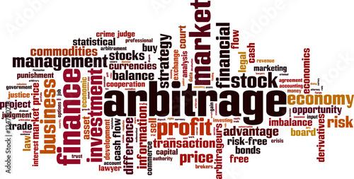 Arbitrage word cloud concept. Vector illustration Fototapete