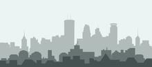 Minneapolis City Skyline - Vec...