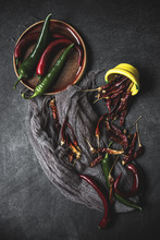 Spicy Red And Green Chilies