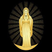 Praying Gold Virgin Mary