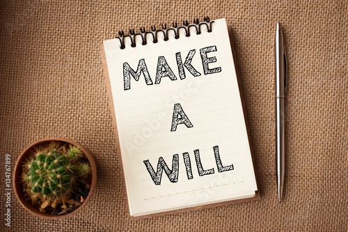 Fotomural  Word text Make a will on white paper on office table / business concept