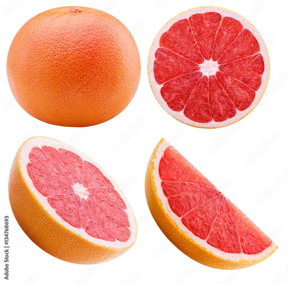 Fotografie, Obraz grapefruit isolated on white background