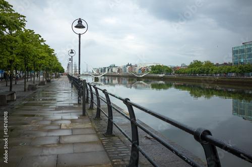 Stampa su Tela  Liffey river in Dublin