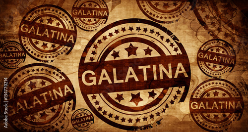 Fototapeta  Galatina, vintage stamp on paper background