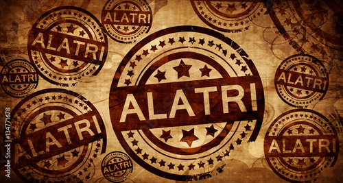 Alatri, vintage stamp on paper background Wallpaper Mural
