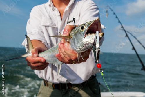 Poster Peche Spanish Mackerel