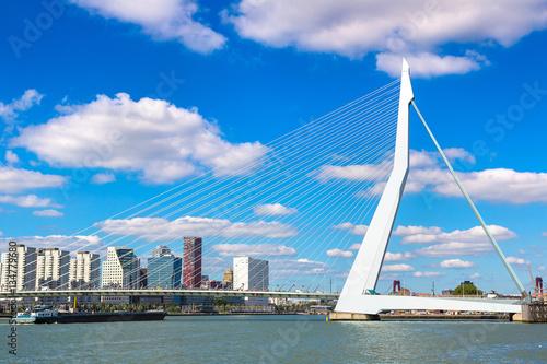 Spoed Foto op Canvas Rotterdam Erasmus bridge in Rotterdam