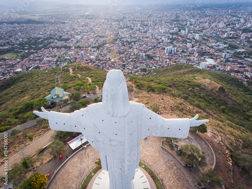 Aerial View of Cristo de Concordia