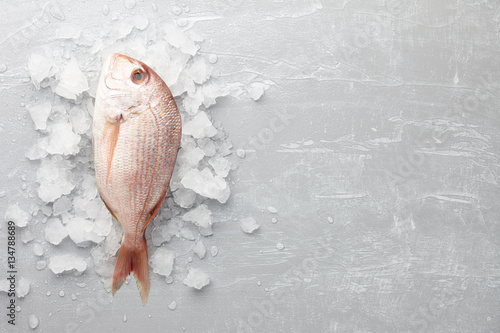 Stickers pour portes Poisson Red Japanese seabream