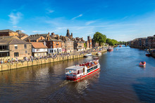 River Ouse In York, England, U...