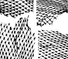 Torn Fishnet Texture Overlay. ...