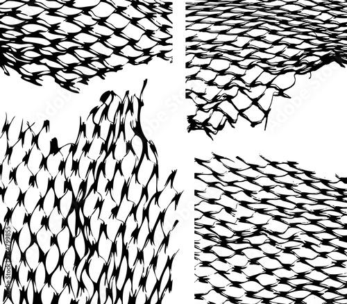 Torn fishnet texture overlay  Fishnet texture vector