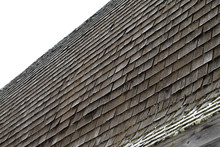 Closeup Of Cedar Shake Barn Roof