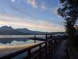 Sun moon lake with mountain and reflection of mountain, Taiwan