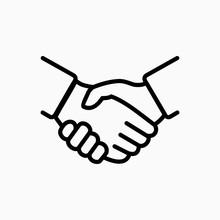 Handshake Icon Simple Vector I...